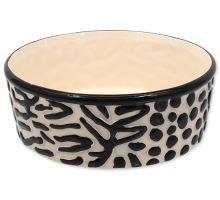 DOG FANTASY keramická miska zebra 21,5 cm 1700ml