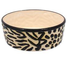 DOG FANTASY keramická miska hnedo-čierna 21,5 cm 1700ml