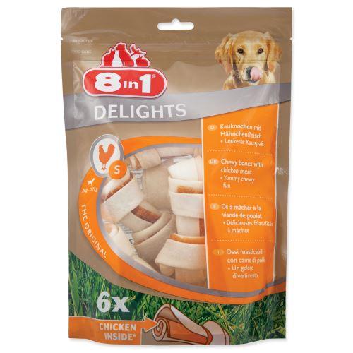 8 in 1 Delights žuvacie kosti S bag 6ks